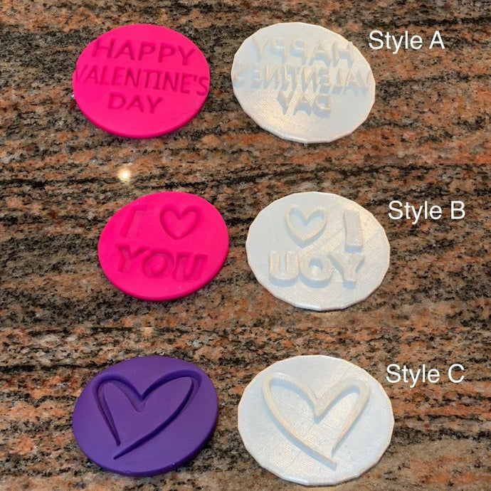 Valentine's Day Cake Fondant Embossers/Stamps - Made in Canada
