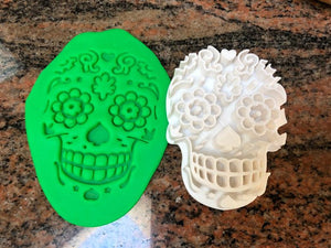 Día de los muertos / Day of the Dead Fondant Embosser and Cookie Cutter - Made in Canada