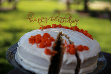 Load image into Gallery viewer, Happy Birthday Cake Topper (Washable and Reusable) - WITH CUSTOM OPTION - Made in Canada