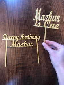 Happy Birthday Cake Topper (Washable and Reusable) - WITH CUSTOM OPTION - Made in Canada