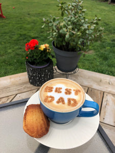 Father's Day Coffee / Latte Stencil - Made in Canada