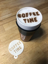 Load image into Gallery viewer, Custom Coffee / Latte Stencil - Choose Your Text / Personalized / Create Your Own - Made in Canada