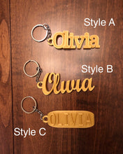 Load image into Gallery viewer, Keychain With Custom Text / Name - Hardware Included - Made in Canada