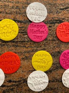 Mother's Day Fondant Embossers/Stamps - Made in Canada