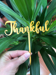 Thanksgiving Cake Topper (Washable and Reusable) - Customizable - Made in Canada