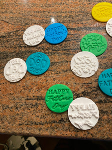 Father's Day Fondant Embossers/Stamps - Made in Canada