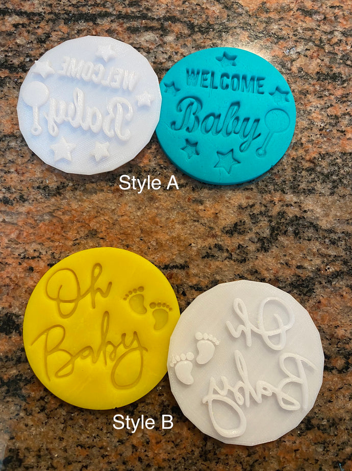 New Baby Fondant Embossers/Stamps - Made in Canada