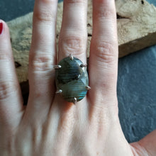 Load image into Gallery viewer, Faceted Labradorite Ring - Size 8-1/2