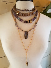 Load image into Gallery viewer, Raw Fluorite Beaded Statement Necklace