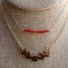 Load image into Gallery viewer, Red Coral Bar Necklace