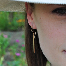 Load image into Gallery viewer, Long Bar Dangle Earrings