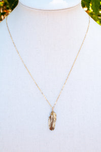 Tiny Feather Necklace II