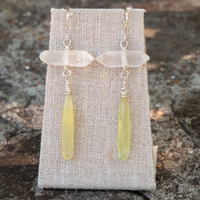 Load image into Gallery viewer, Colorblock Quartz Point Earrings