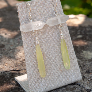 Colorblock Quartz Point Earrings