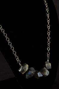 Long Chunky Labradorite Necklace