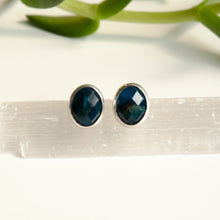 Load image into Gallery viewer, Faceted Apatite Gemstone Studs