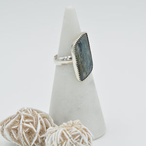 Kyanite Parallelogram Statement Ring - Size 8