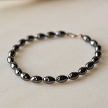 Load image into Gallery viewer, Silk Knotted Hematite Bracelet