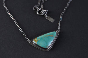 Kingman Turquoise Triangle Necklace
