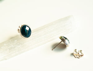 Faceted Apatite Gemstone Studs