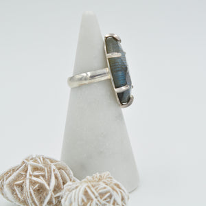 Faceted Labradorite Ring - Size 8-1/2