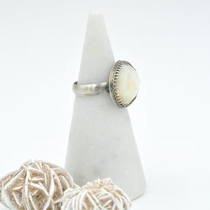 Large Mother of Pearl Statement Ring - Size 8