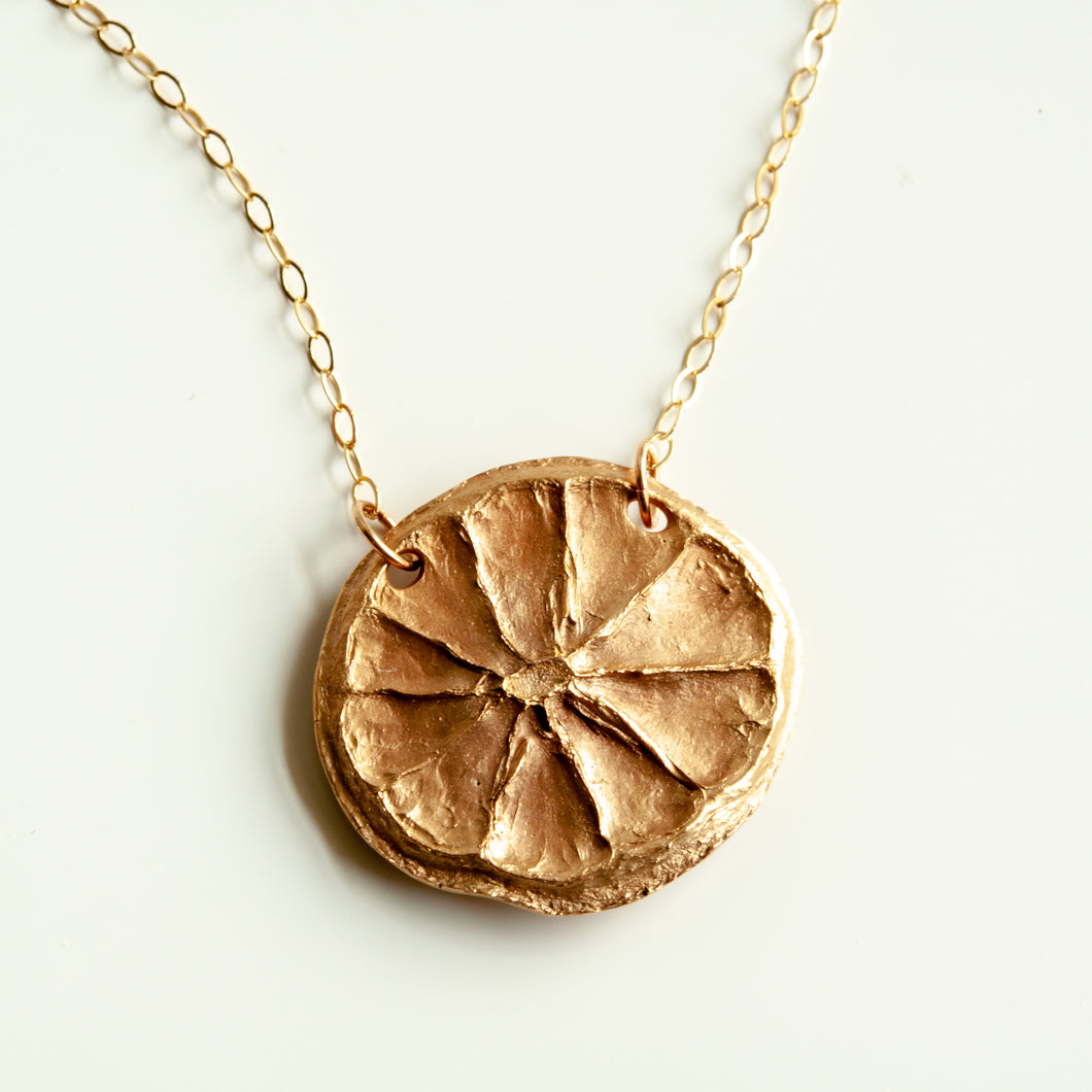 Lemon Slice Necklace