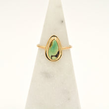 Load image into Gallery viewer, Red River Turquoise & Gold-filled Stacker Ring - Size 7