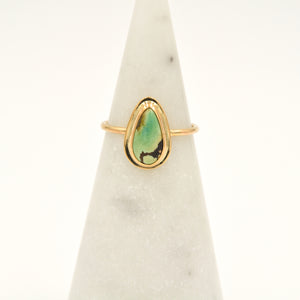 Red River Turquoise & Gold-filled Stacker Ring - Size 7