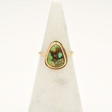 Load image into Gallery viewer, American Turquoise & Gold-filled Stacker Ring - Size 7