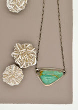 Load image into Gallery viewer, Kingman Turquoise Triangle Necklace