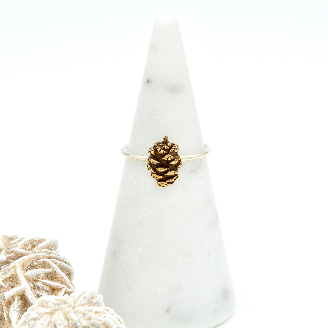 Tiny Pine Cone Ring