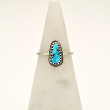 Load image into Gallery viewer, Turquoise & Sterling Silver Stacker Ring - Size 7