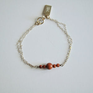 Sunstone and Sterling Bracelet