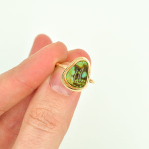 American Turquoise & Gold-filled Stacker Ring - Size 7