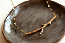 Load image into Gallery viewer, Horizontal Twig Necklace