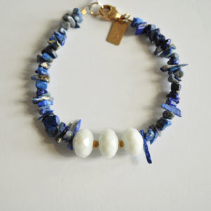 Beaded Bracelet - Lapis Lazuli and Czech Glass