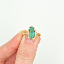 Load image into Gallery viewer, Turquoise & Gold-Fill Stacker Ring - Size 8.5
