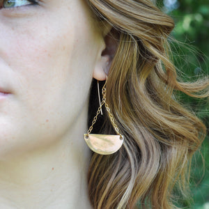 Large Demilune Earrings