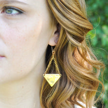 Load image into Gallery viewer, Large Triangle Earrings