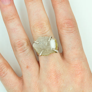Crystal Geode Statement Ring - Size 8-1/2