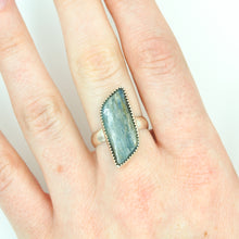 Load image into Gallery viewer, Kyanite Parallelogram Statement Ring - Size 8