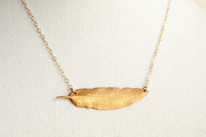 Horizontal Feather Necklace