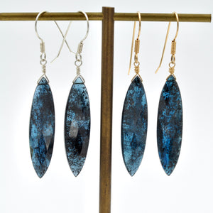 Faceted Imperial Kyanite Giant Marquis Drops