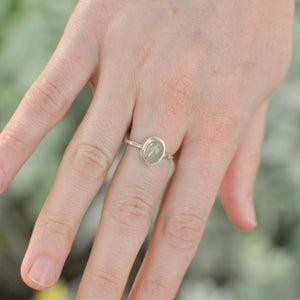 Rutilated Quartz Stacker Ring - Size 7