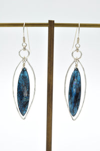 Imperial Kyanite Sterling Frame Drop Earrings