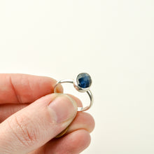 Load image into Gallery viewer, Faceted Apatite Stacker Ring - Size 8-1/2
