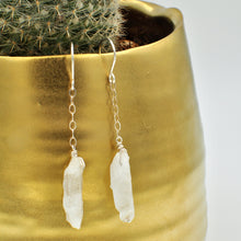 Load image into Gallery viewer, Quartz Point Dangle Earrings