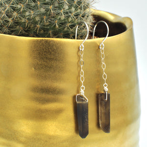 Quartz Point Dangle Earrings