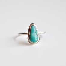 Load image into Gallery viewer, Morning Star Turquoise Stacker Ring - Size 10